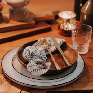 Geschirr, Gläser und Besteck