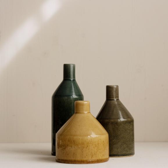 Keramik Vasen in Herbstfarben
