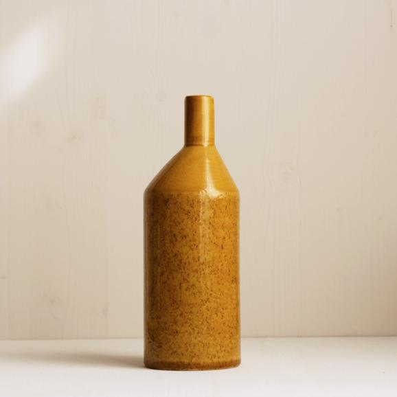 Keramik Vase in curry