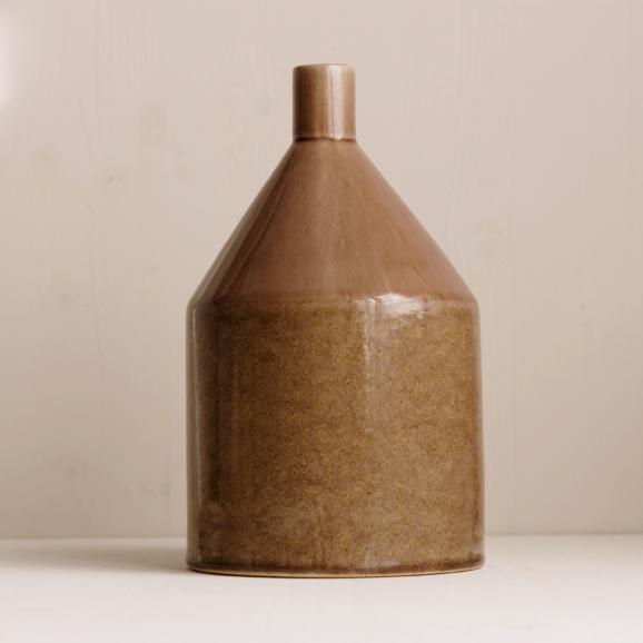 grosse Keramik Vase in rose