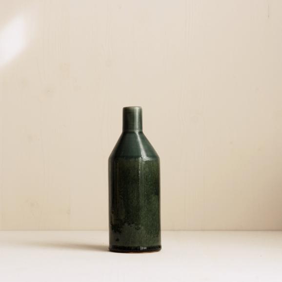 kleine grüne Keramik Vase