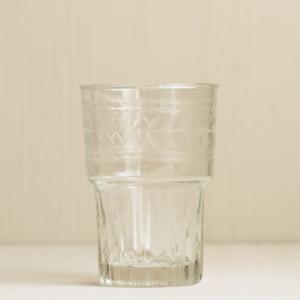 Wasserglas mit Borte