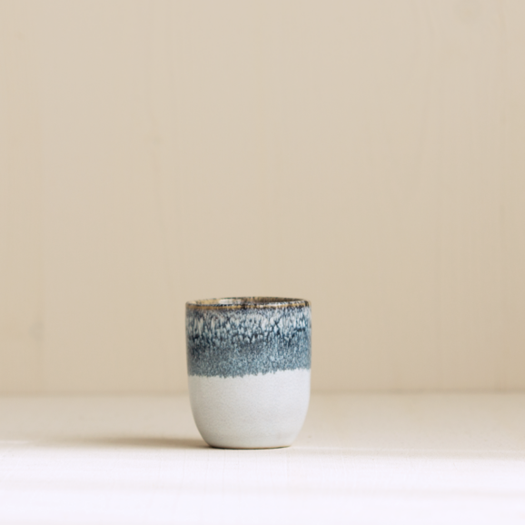 Espresso becher graublau weiss von onomao