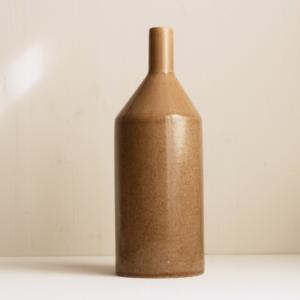 grosse Keramik Vase in caramel