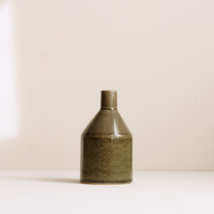 kleine graue Keramik Vase