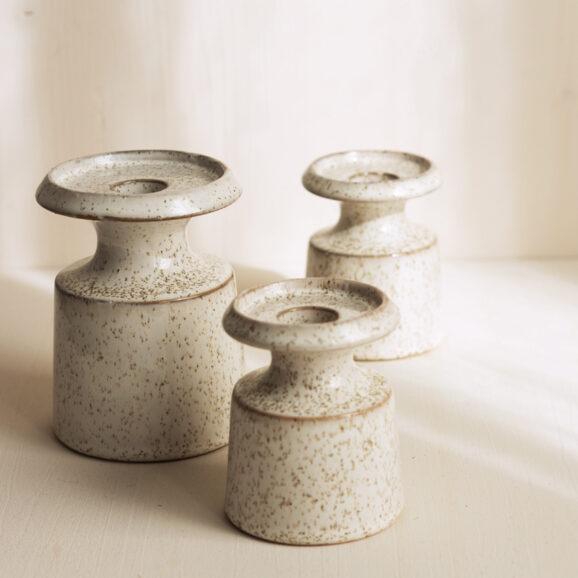 weisse Keramik Kerzenleuchter