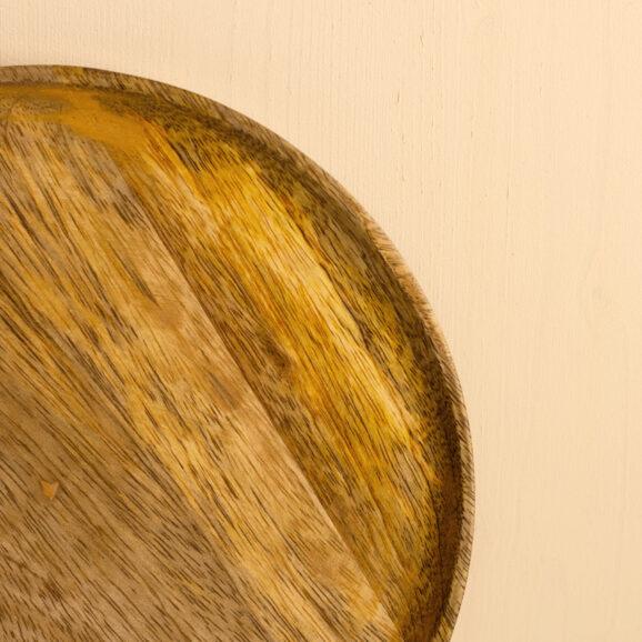 Holzteller hellbraun