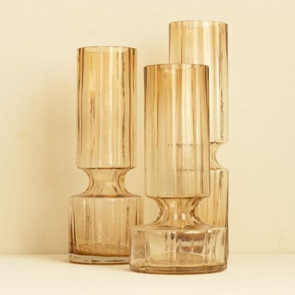 Drei grosse Glasvasen mundgeblasen von Broste Copenhagen