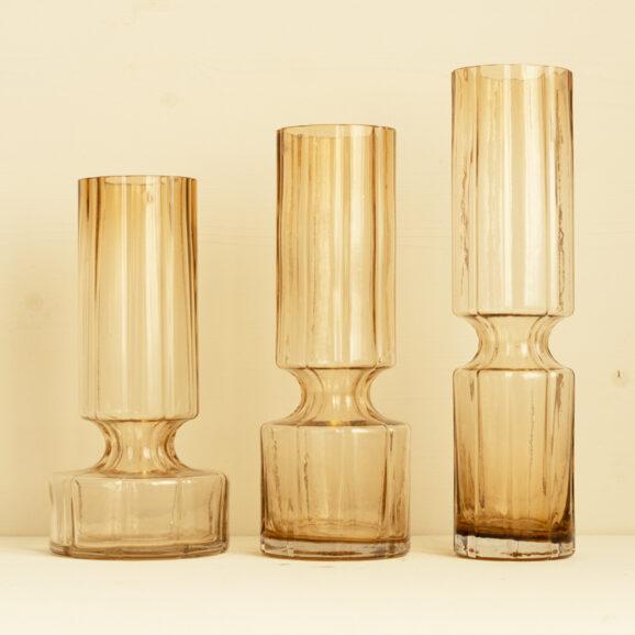 Glasvasen in caramel und drei groessen von Broste Copenhagen