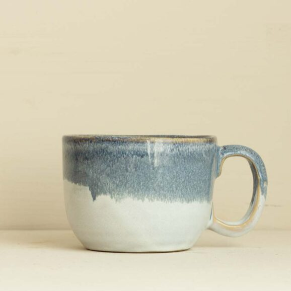 grosse Tasse in blaugrau weiss von onomao