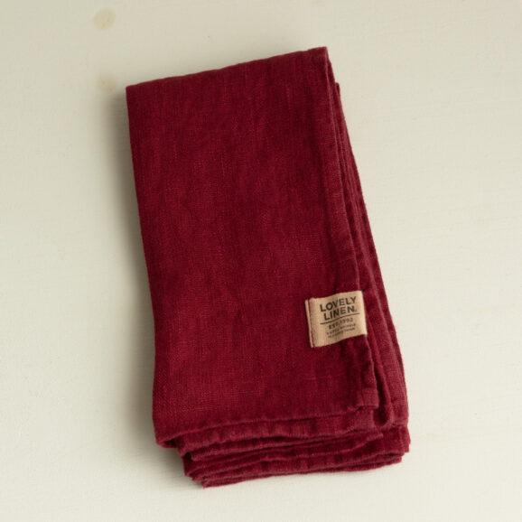 Leinen Serviette bordeaux rot Lovely Linen