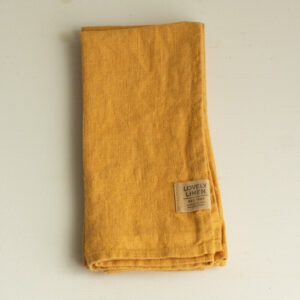Leinen Serviette honiggelb Lovely Linen