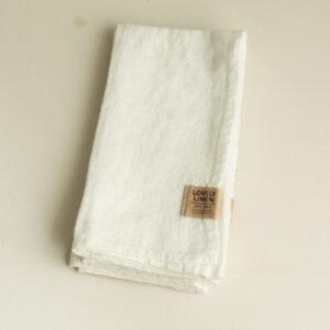 Leinen Serviette weiss Lovely Linen