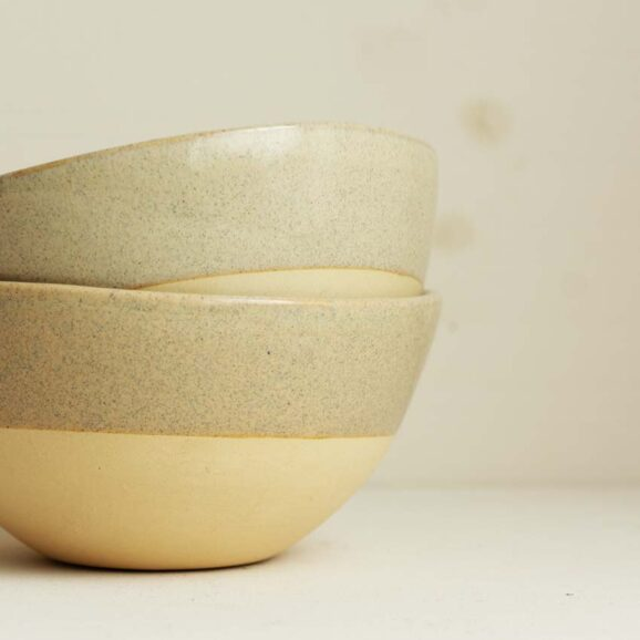 Onomao Schuessel Beige dipped
