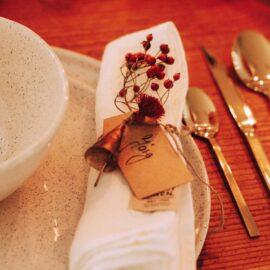 Weihnachten Tischdekoration in rot