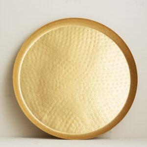goldenes Tablett gross Bei Blumenthals