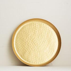goldenes Tablett klein Bei Blumenthals