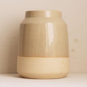 grosse Vase Keramik von Onomao in Beige Natur Bei Blumenthals